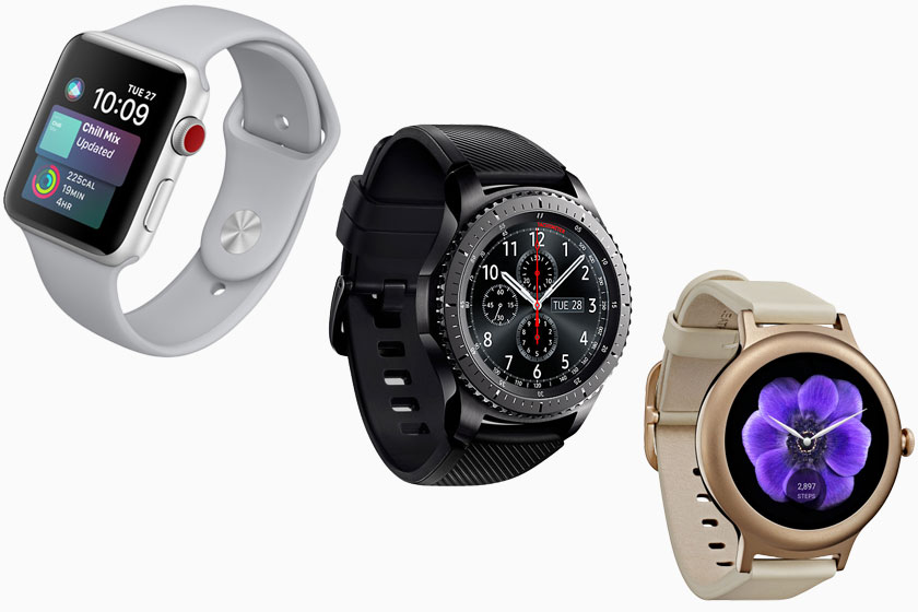 LG Watch Style/Galaxy Gear S3/Apple Watch 3 (תמונות: אפל, סמסונג, LG)