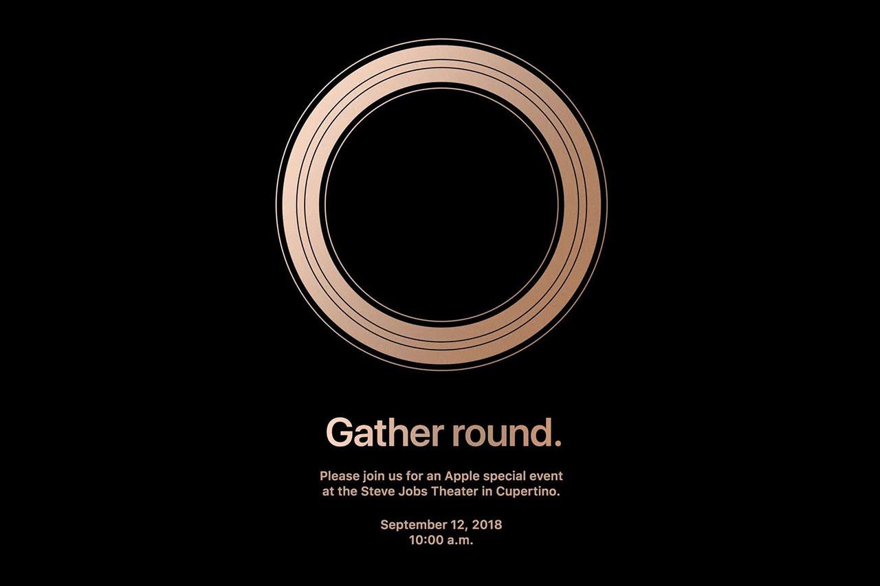הזמנה לאירוע אייפון 2018 (תמונה: Apple)