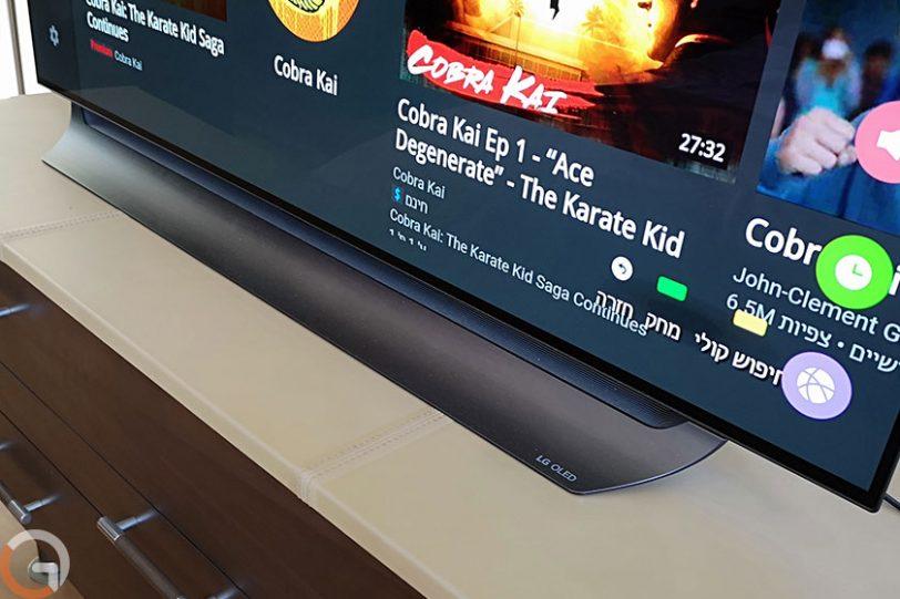 LG OLED 55C8Y (צילום: רונן מנדזיצקי, גאדג'טי)