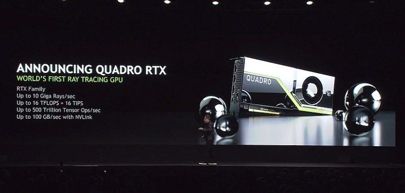 הכרזת Nvidia Quadro RTX (מקור wccftech)