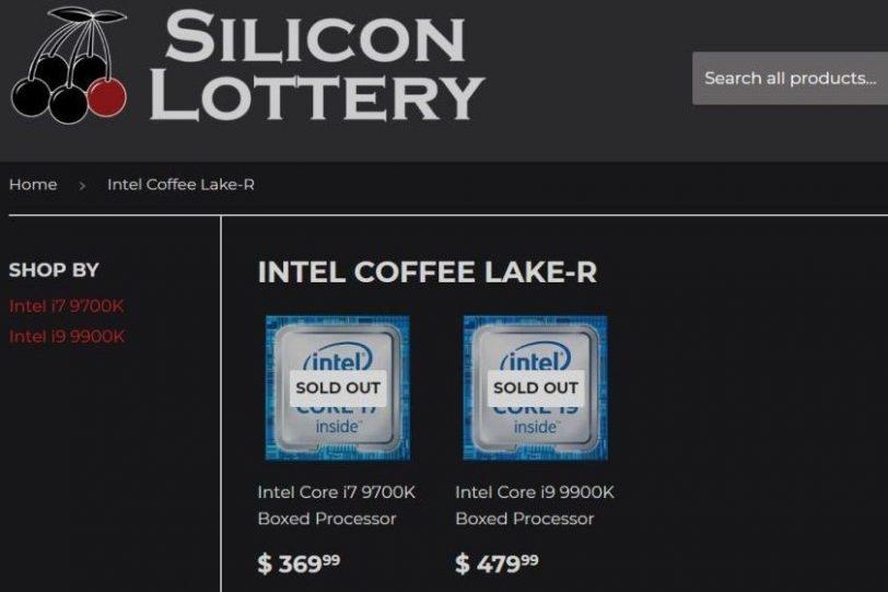 מחירי 9700K ו-9900K (מקור Silicon Lottery)