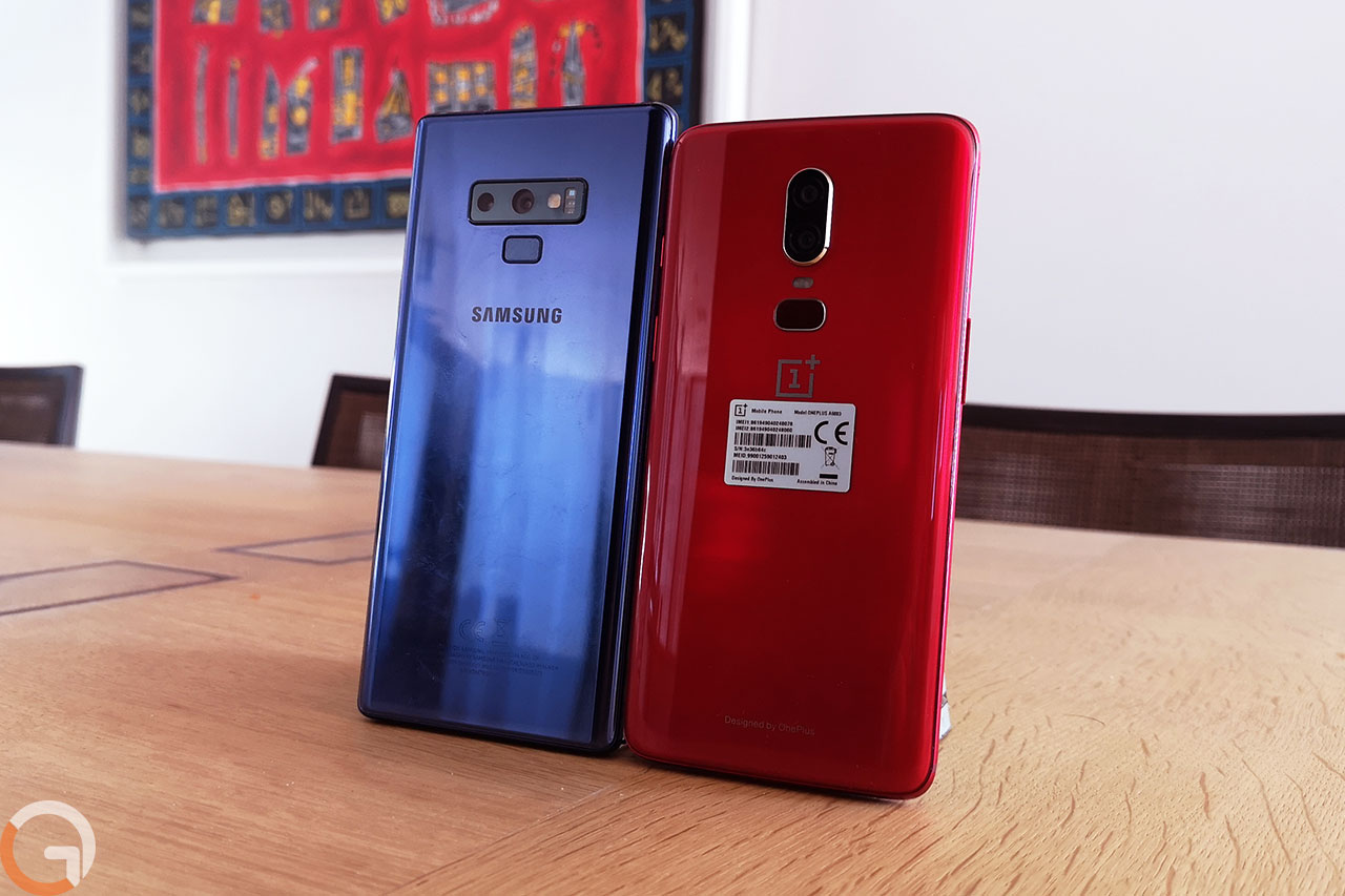 OnePlus 6 ו-Galaxy Note 9 (צילום: רונן מנדזיצקי, גאדג'טי)