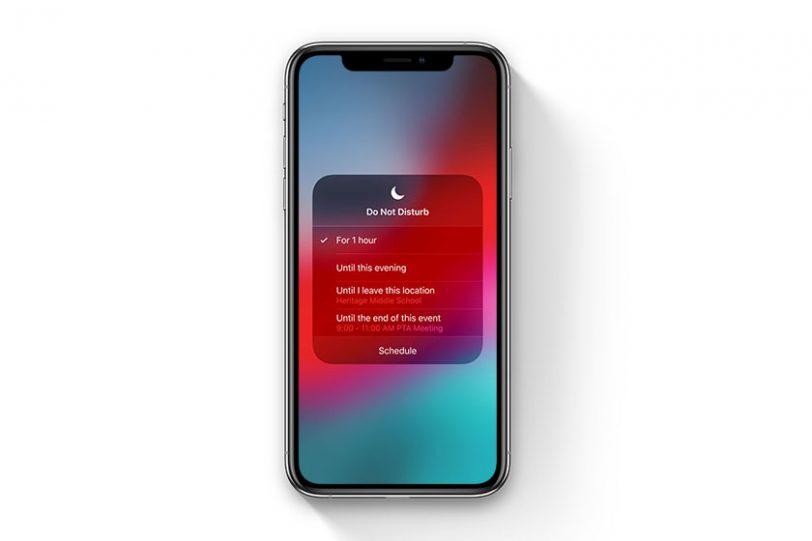 מצב לא להפריע בלילה ב-iOS 12 (תמונה: Apple)