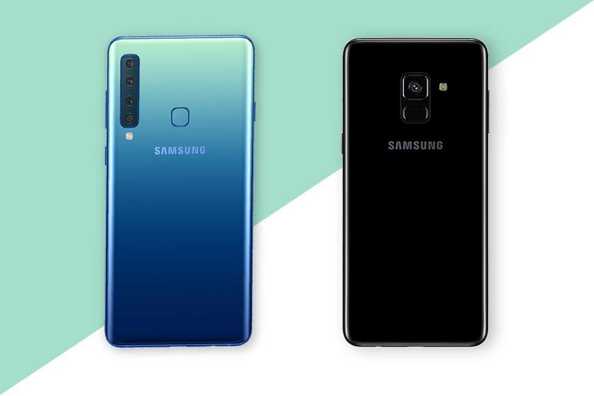 Galaxy A8 (מימין) ו-Galaxy A9 (משמאל) (תמונות: סמסונג)