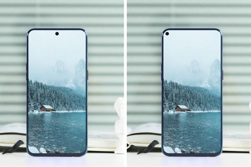 עיצוב אפשרי למכשירי ה-Galaxy A8s/Galaxy S10 (תמונה: Ice Universe)