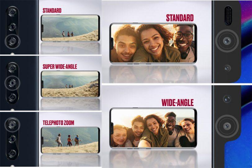 תפקידן של חמשת העדשות במערך הצילום של ה-LG V40 (תמונה: Evleaks)