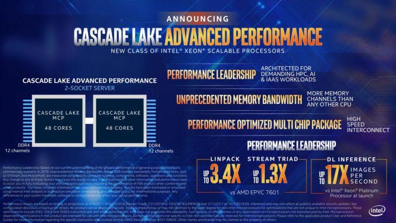 מידע רשמי Cascade Lake Advanced Performance (מקור אינטל)
