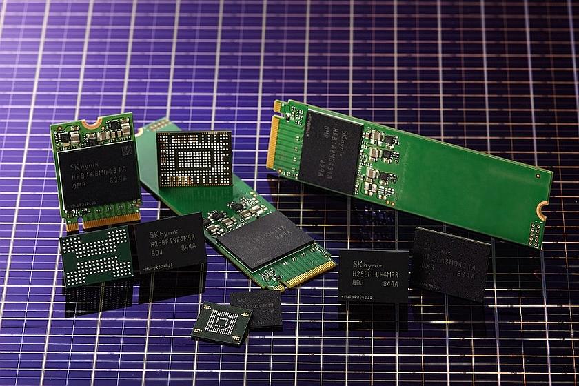 זכרונות 4D NAND (מקור SK Hynix)