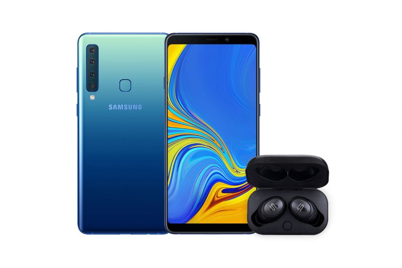 Galaxy A9 ואוזניות אלחוטיות Soul True Wireless ST-XS Lite (תמונות: סמסונג)