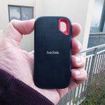כונן SanDisk Extreme Portable SSD (צילום: רונן מנדזיצקי, גאדג'טי)