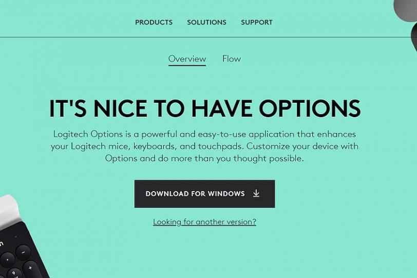 תוכנת Logitech Options (מקור Logitech)