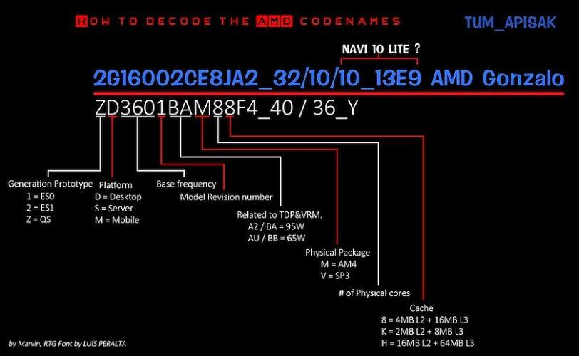 תרשים שם AMD Gonzalo (מקור TUM_APISAK)