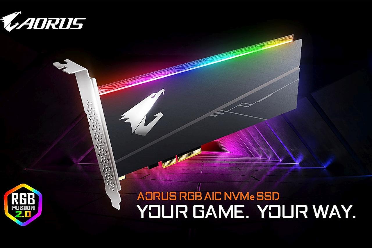 כונן Aorus RGB SSD בתצורת AIC (מקור Gigabyte)
