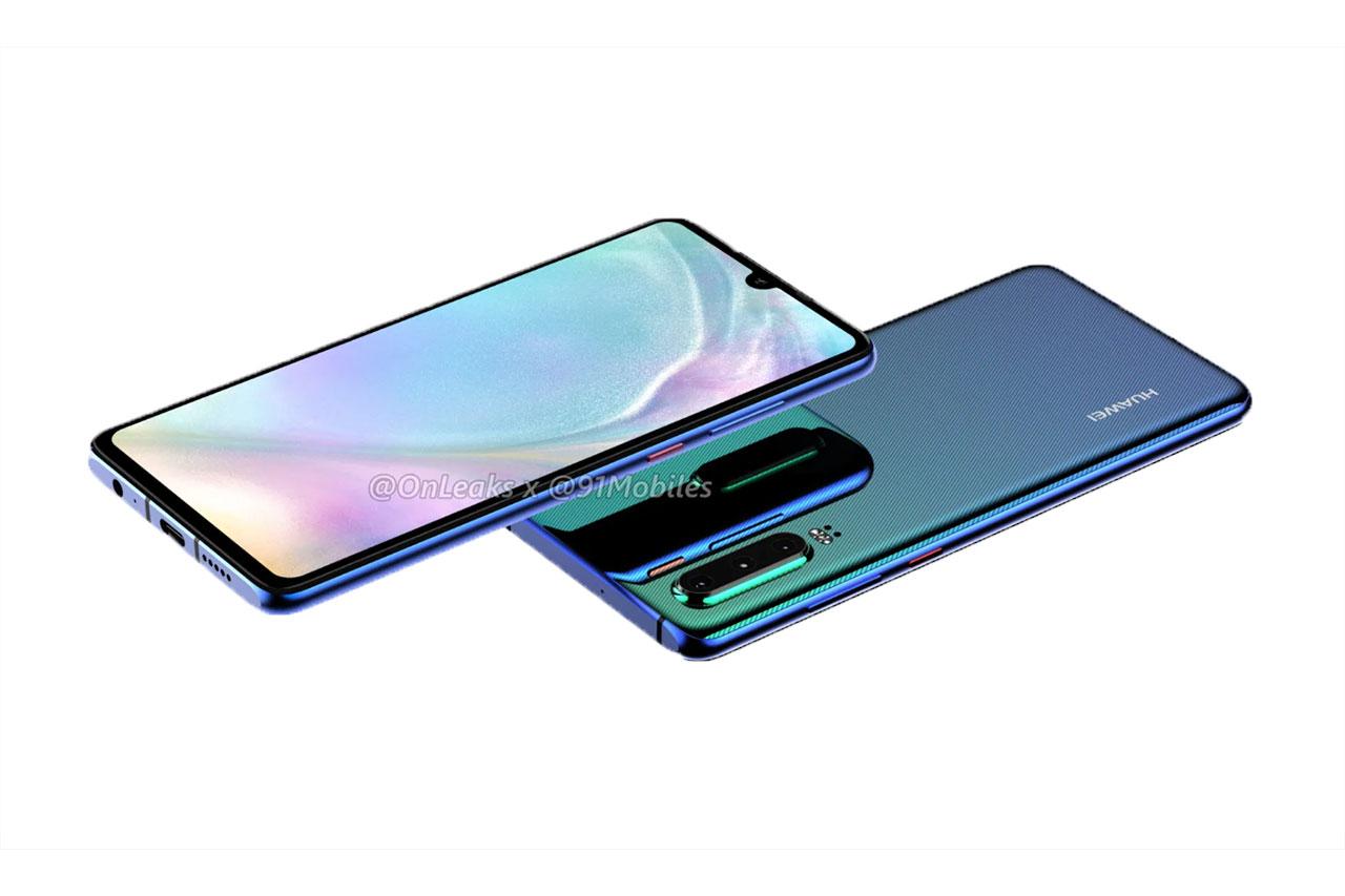 Huawei P30 (מקור: OnLeaks / 91Mobiles)