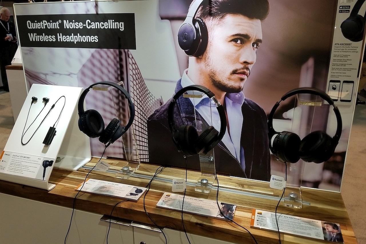סדרת אוזניות ANC של Audio-Technica בכנס CES 2019