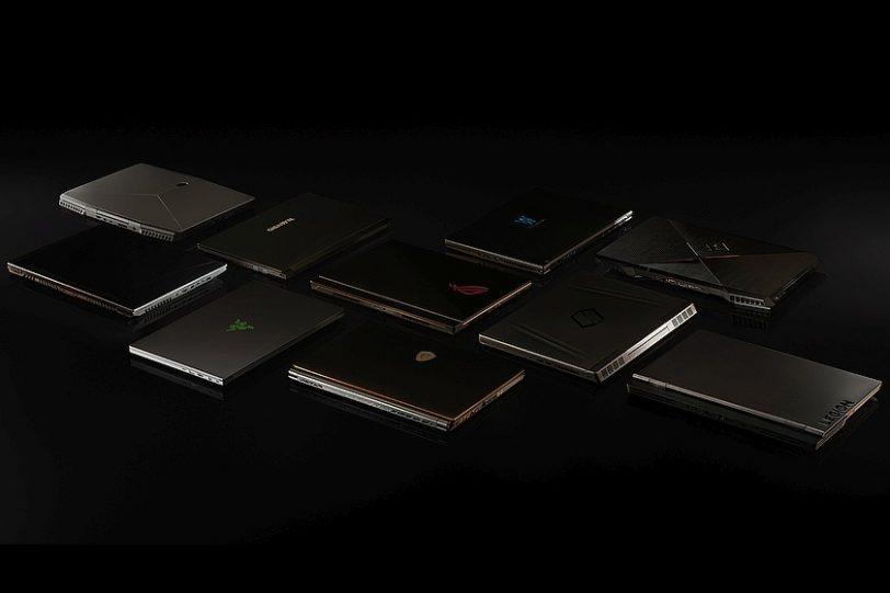 מגוון ניידים שישתמשו בכרטיסי RTX ניידים (מקור נווידיה)