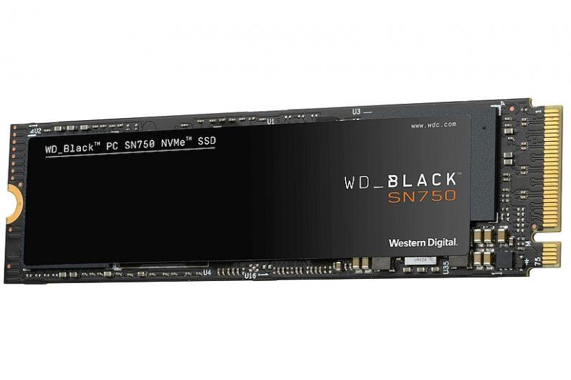 כונן WD Black SN750 NVMe ללא צלעות קירור (מקור WD)
