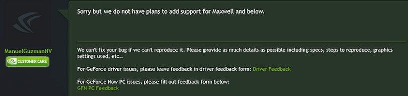 תגובת ManuelGuzman בפורום נווידיה לנושא התמיכה ב-FreeSync (מקור Guru 3D)