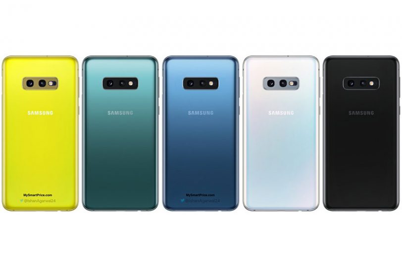 צבעי ה-Galaxy S10e (תמונה: Ishan Agarwal/Twitter)