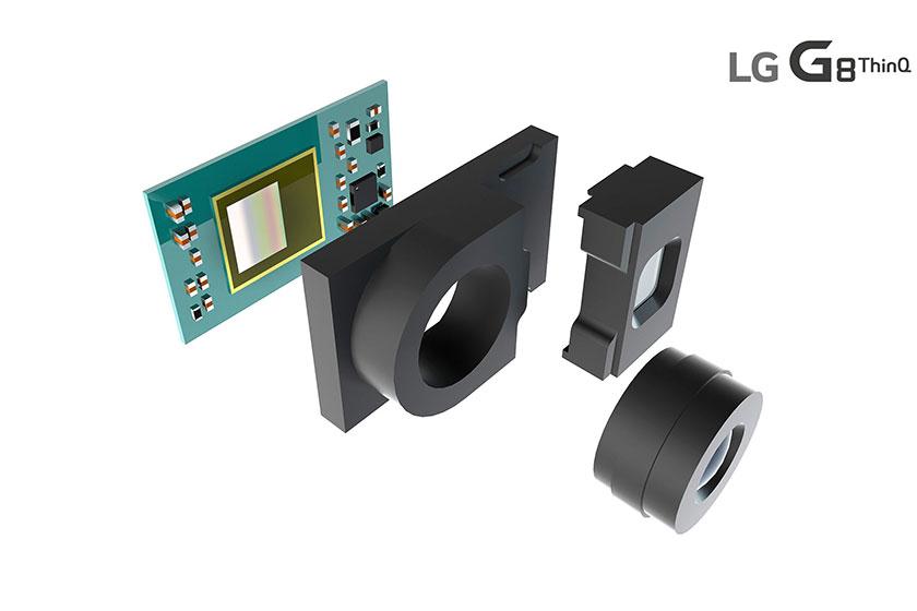 חיישן ToF ב-LG G8 (תמונה באדיבות LG Electronics)