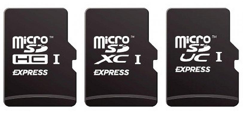 סימוני כרטיסי ה-MicroSD Express (מקור SDA)