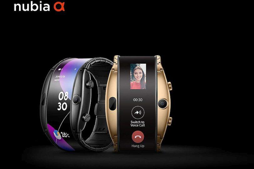 שעון nubia Alpha בשחור וזהב (מקור nubia)
