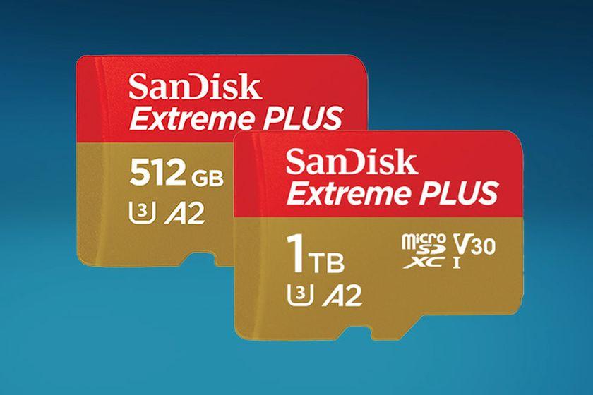 כרטיס זיכרון MicroSD בנפח 512GB ו-1TB (מקור סאנדיסק)