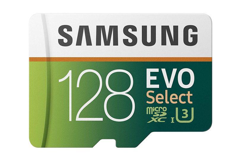כרטיס זכרון Samsung 128GB 100MB/s (U3) MicroSD EVO