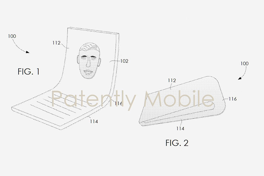 Google Foldable Smartphone Patent (תמונה: PatentlyMobile)