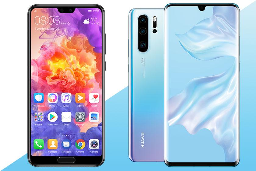 Huawei P20 Pro (משמאל) ו-Huawei P30 Pro (מימין) (תמונות: Huawei/Twitter)