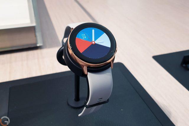 הצצה ראשונה: מבט מקרוב לשעון הספורט Galaxy Watch Active