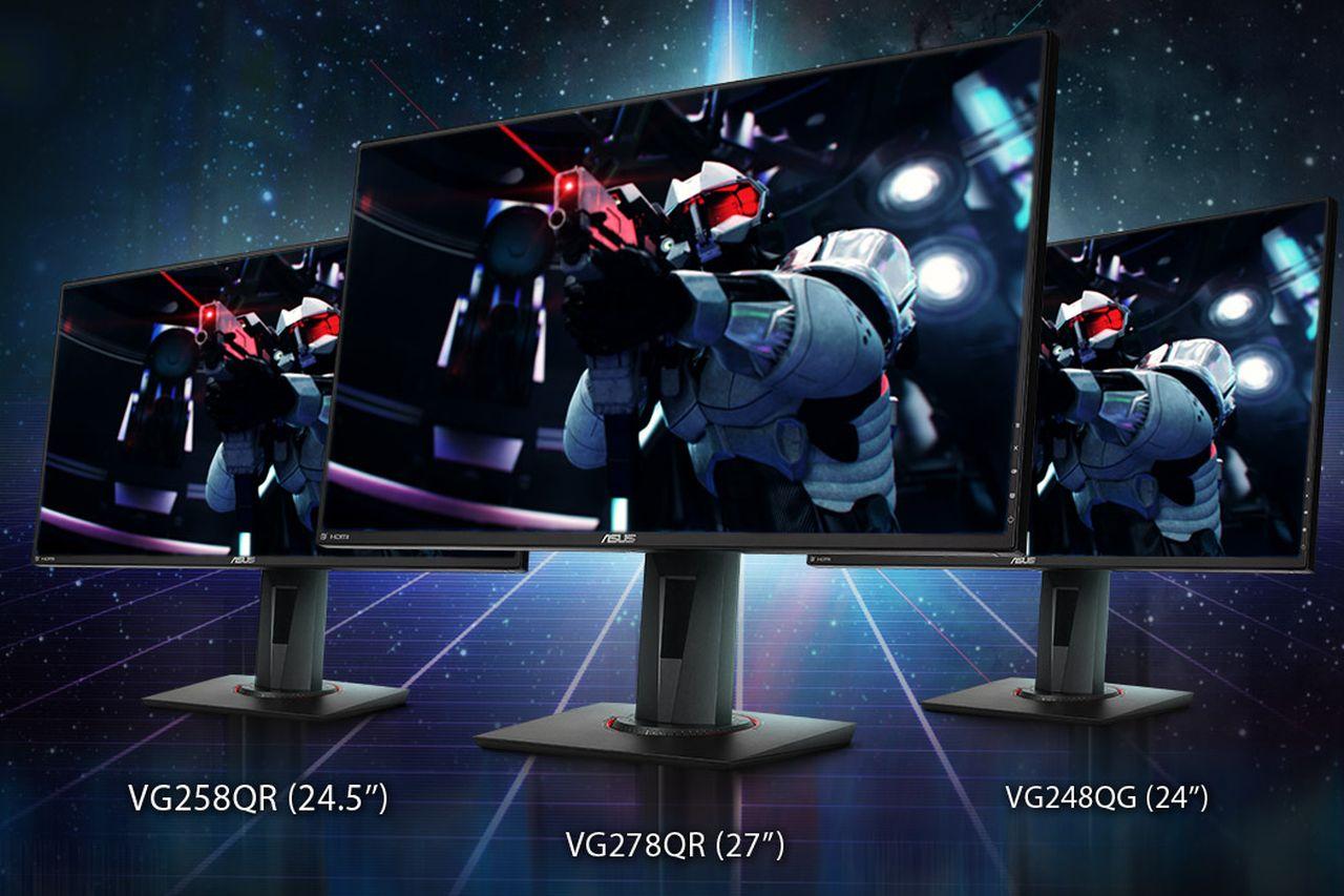 מסכי גיימינג VG278QR VG248QG ו-VG258QR (מקור אסוס)