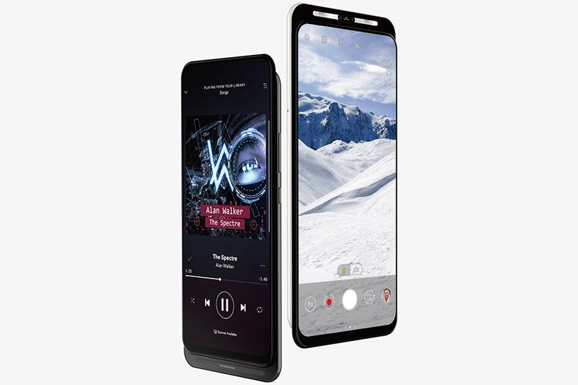 Asus 5G Dual Slider Smartphone (תמונה: Twitter/Evleaks)