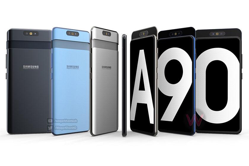 Galaxy A90 Concept (תמונה: Twitter/Waqar Khan)