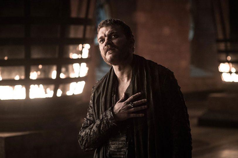 יורון גרייג'וי מתוך משחקי הכס, עונה 8 (צילום: Helen Sloan, תמונה באדיבות HBO)