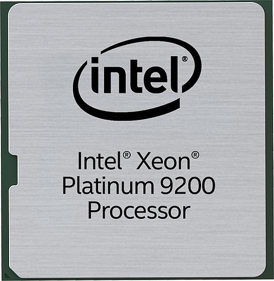 סדרת מעבדי Xeon Platinum 9200 (מקור אינטל)