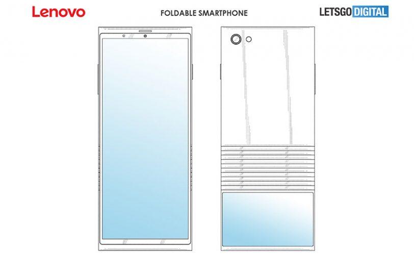 Lenovo Foldable Smartphone (תמונה: LetsGoDigital)