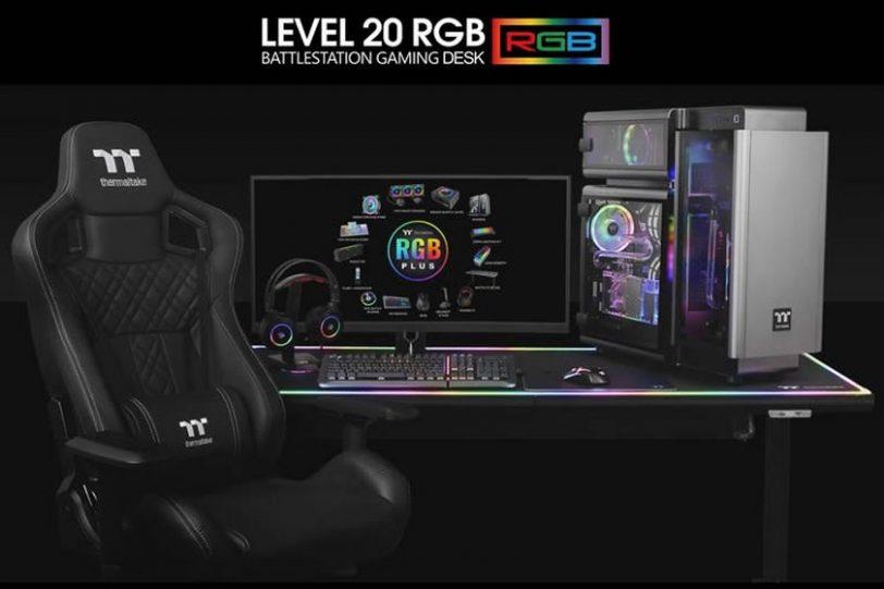 שולחן גיימינג Level 20 RGB BattleStation (מקור Thermaltake)