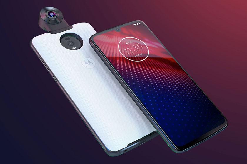 Motorola Moto Z4 עם 360 Camera Moto Mod (תמונה: מוטורולה)