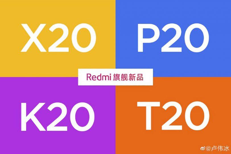 שמות דגמים אפשרים למכשיר Redmi