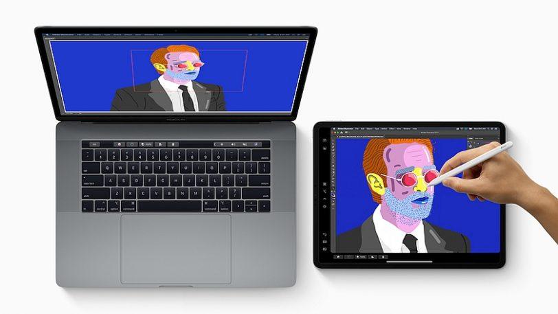 חיבור ה-iPad Pro ל-macOS Catalina דרך Sidecar (מקור אפל)