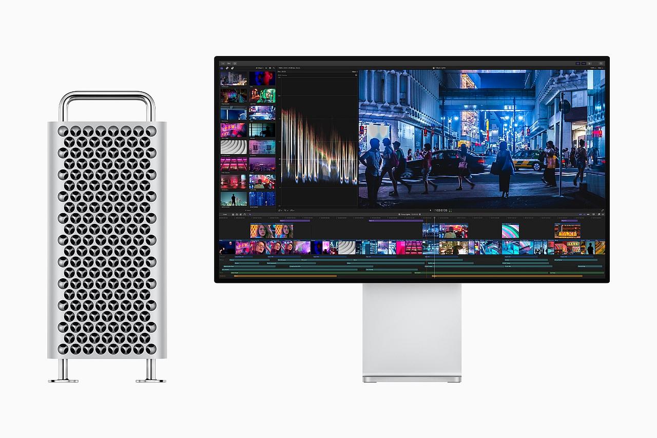 מחשב ה-Mac PRo ומסך ה-Pro Display XDR (מקור אפל)