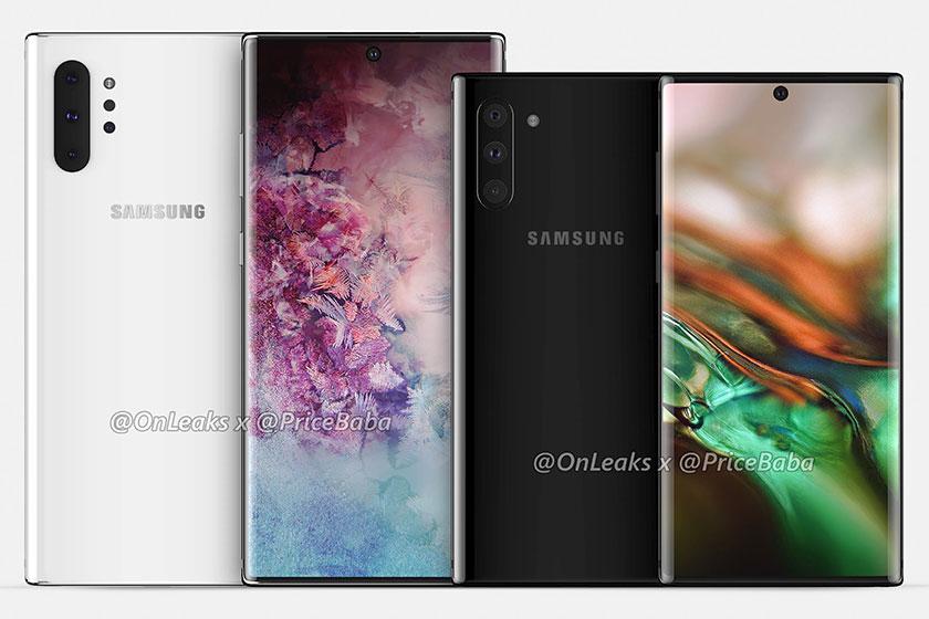 Galaxy Note10 ו-Galaxy Note10 Pro (תמונה: Pricebaba)