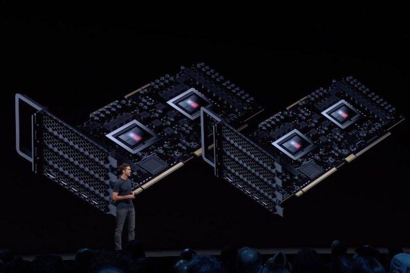כרטיס Radeon Pro Vega II Duo, אירוע WWDC 2019 (מקור AMD)