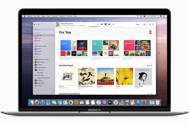 תוכנת ה-Apple Music (מקור אפל)