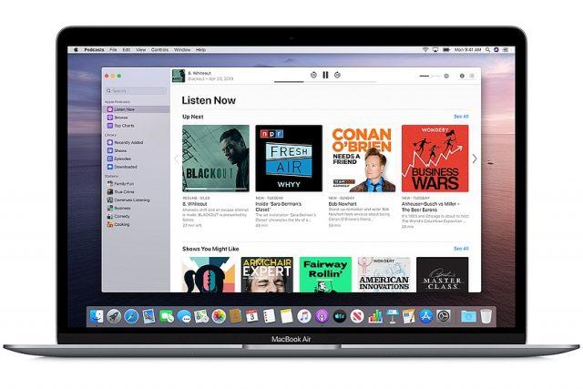תוכנת ה-Apple Podcasts (מקור אפל)
