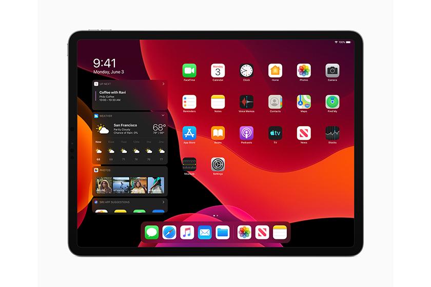 iPad OS Dark Mode (תמונה: Apple)