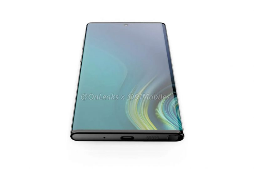Galaxy Note 10 (הדמיה: Onleaks / 91mobiles)