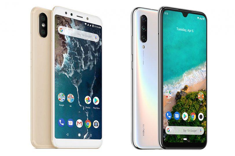 Xiaomi Mi A3 (מימין) ו-Xiaomi Mi A2 (משמאל) (תמונות: שיאומי)