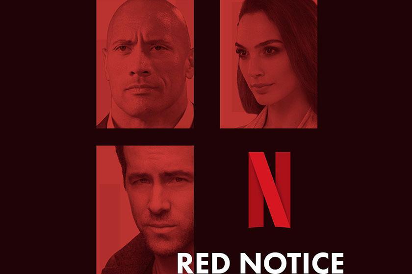 גל גדות, דוויין ג'ונסון וראיין ריינולדס ב-Red Notice